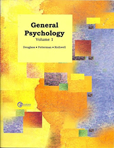 9780073536064: General Psychology Volume 1 Cabrillo College