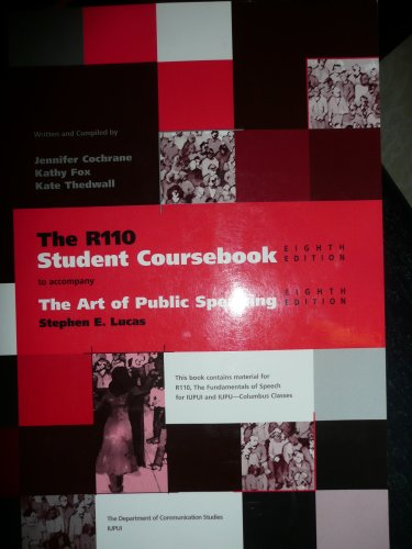 9780073536118: The R110 Student Coursebook to accompany The Art of Public Speaking (for IUPUI and IUPU - Columbus C