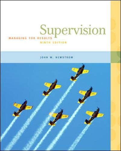 9780073545080: Supervision: Managing for Results