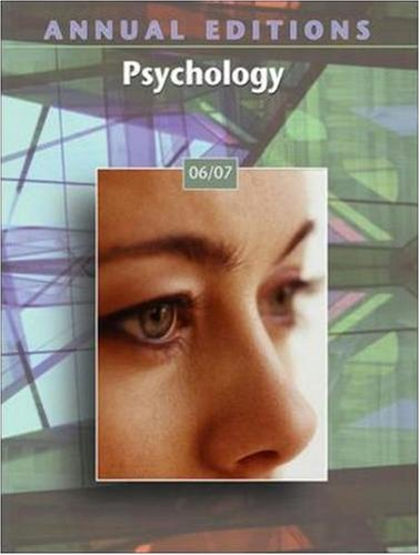 Annual Editions: Psychology 06/07 (Annual Editions : Karen G Duffy