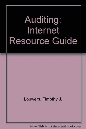9780073656502: Internet Resource Guide for use with Auditing