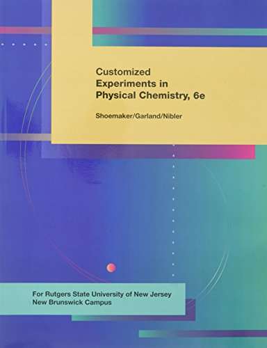 9780073657981: LSC (RUTGERS UNIV NEW BRUNSWICK): Exp. In Physical Chemistry