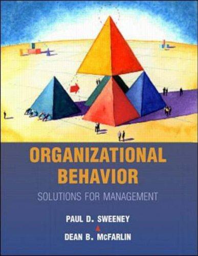 9780073659084: Organizational Behavior: Solutions for Management