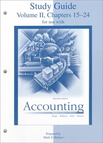 9780073659268: Study Guide, Volume 2, to accompany Accounting: The Basis for Business Decisions