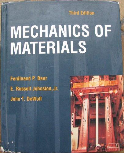 Mechanics of Materials 3rd Edition: Beer, Ferdinand P.; Johnston, E. Russell; Dewolf, John T.