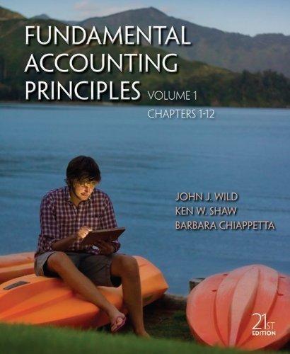 9780073661261: Fundamental Accounting Principles (Vol. 1, Chpts. 1-12)