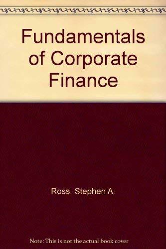 9780073661285: Fundamentals of Corporate Finance
