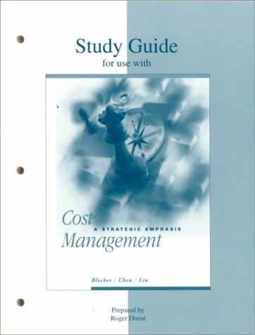 9780073662534: Study Guide for Use With Cost Management: A Strategic Emphasis