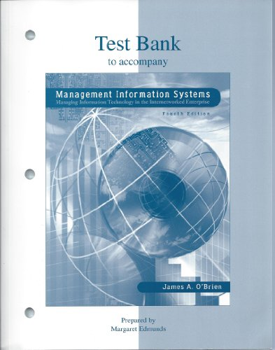 9780073662596: Management Information Systems - Test Bank
