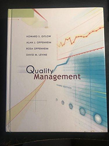9780073662633: Quality Management