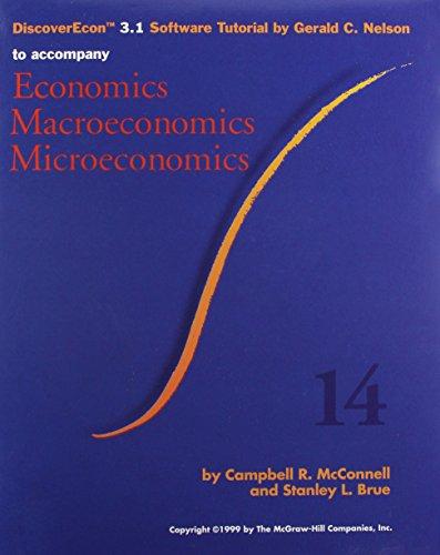 9780073662930: Discoverecon 3.1 Software Tutorial by Gerald C. Nelson to Accompany Economics, Macroeconomics, Microeconomics