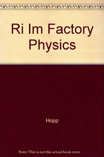 Ri Im Factory Physics: Hopp