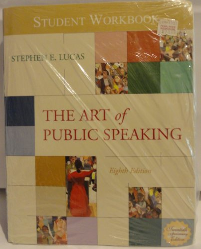 9780073875842: The Art of Public Speaking and Learning Tools Suite Plus Student Workbook - Eighth Edition - Version 3.0