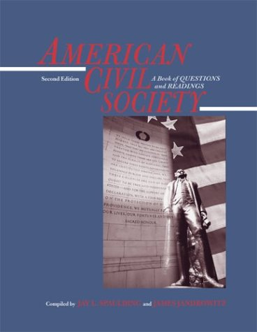 9780073945491: American Civil Society: A Book of Questions and Readings