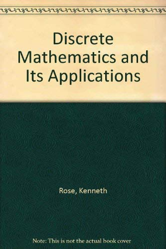 9780073987941: Discrete Mathematics and Its Applications