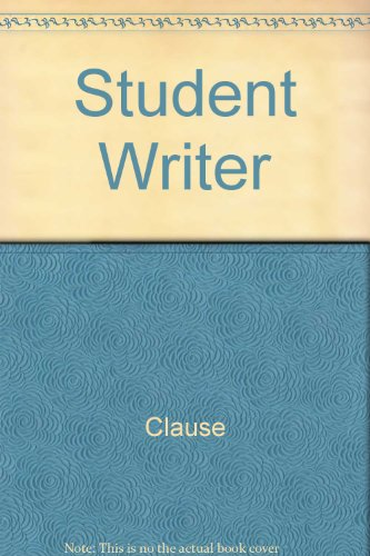 9780074008591: Student Writer