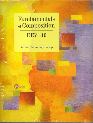 9780074115145: Fundamentals of Composition DEV 110 : With Users Guide