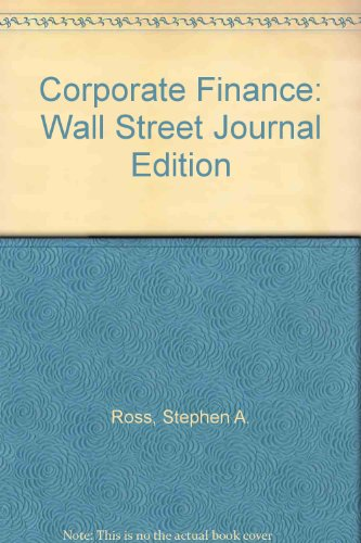9780074140994: Corporate Finance: Wall Street Journal Edition