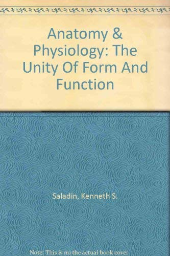 9780074265369: Anatomy & Physiology: The Unity Of Form And Function ...