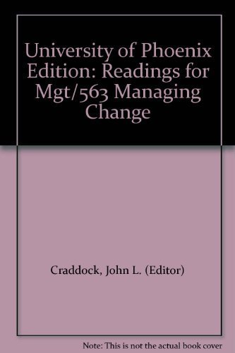 9780074272374: University of Phoenix Edition: Readings for Mgt/563 Managing Change