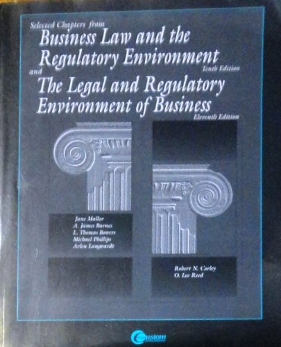 Selected Chapters from Business and Regulatory Environment: Jane Mallor, A.