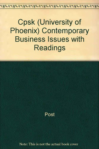 Contemporary Business Issues with Readings: Post, James E.