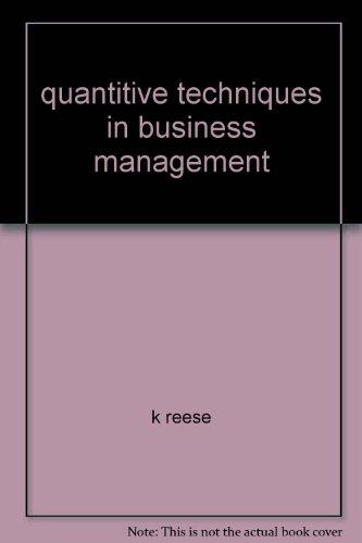 9780074506417: quantitive techniques in business management