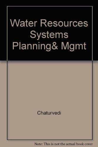 9780074515662: Water Resources Systems Planning & Management