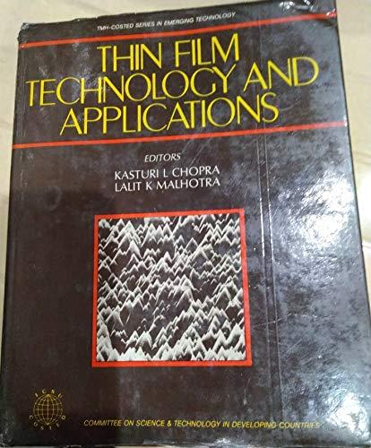 9780074515693: Thin Film Technol & Applctn.- Tmh