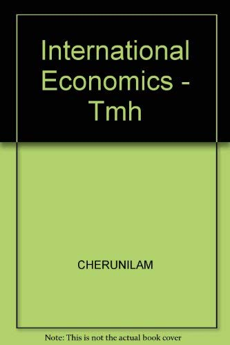 9780074516270: International Economics - Tmh