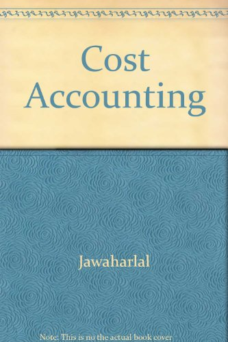 9780074516973: Cost Accounting