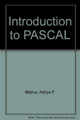 9780074517628: Introduction to PASCAL