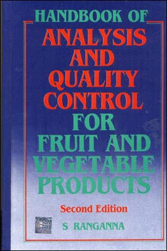 9780074518519: Handbook of Analysis and Quality Control for Fruit and Vegetable Products