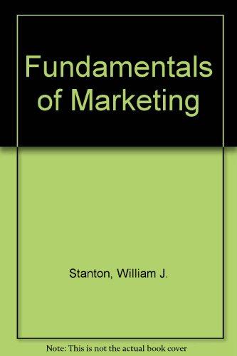 9780074520239: Fundamentals of Marketing