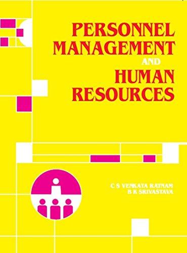 Personnel Management and Human Resources: B. Srivastava,C.S. Venkataratnam