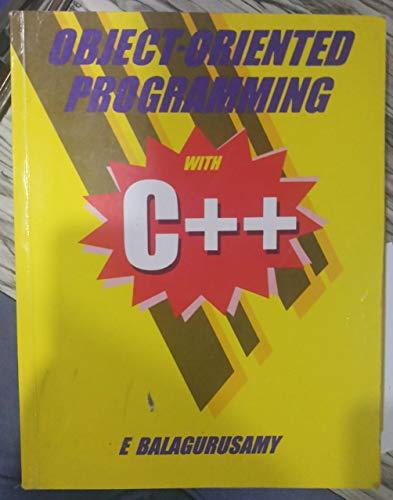 Object-oriented Programming with C++: E Balagurusamy