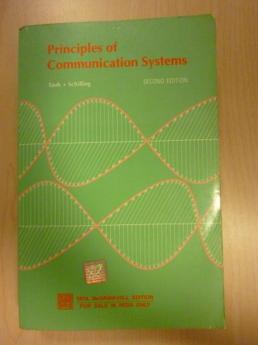 9780074624562: Principles of Communication Systems 2nd Edition