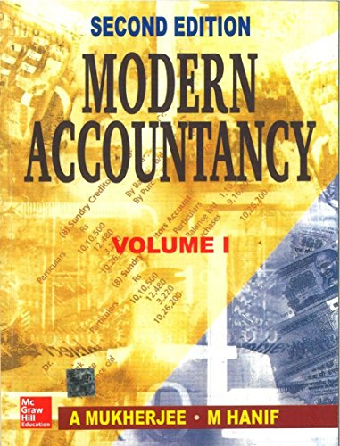 Modern Accountancy, Volume 1: Amitabha Mukherjee,Mohammed Hanif