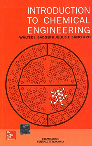 9780074630501: Introduction To Chemical Engineering