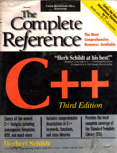 9780074638804: C++: The Complete Reference - Third Edition [Paperback] by Herbert Schildt