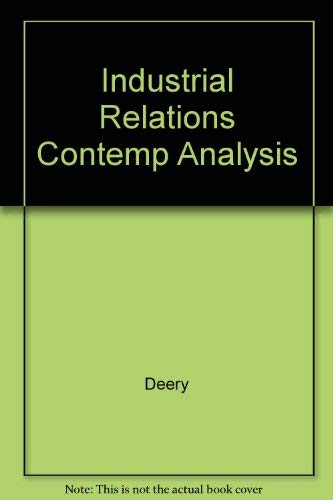 9780074700907: Industrial Relations Contemp Analysis