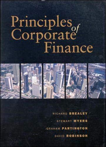 9780074701072: Principles of Corporate Finance: Australian Edition