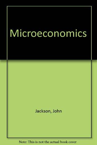 9780074701164: Microeconomics ( Fourth edition.)