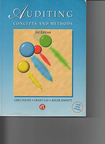 9780074701263: Auditing Concepts & Methods