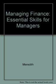 9780074705094: Managing Finance: Essential Skills for Managers