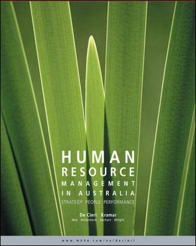Human Resource Management in Australia Strategy, People,: De Cieri, Helen