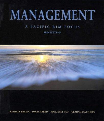 9780074707982: Management: a Pacific Rim Focus (Erganzungs- Und Nachlassbande Zu Den Gesammelten Werken)