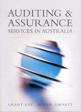 9780074708996: Auditing & Assur Services Aust
