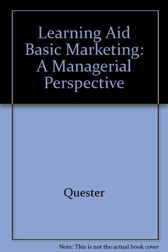 9780074709276: Learning Aid Basic Marketing: A Managerial Perspective