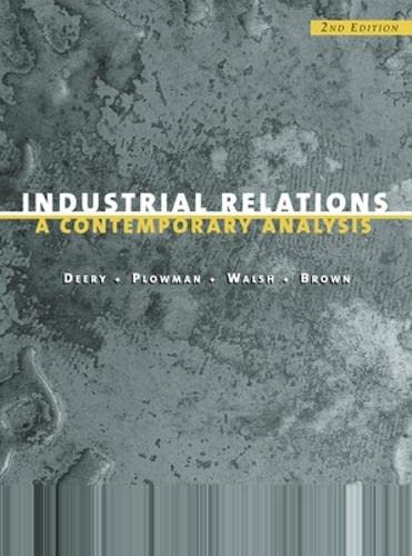 9780074709757: Industrial Relations: A Contemporary Analysis